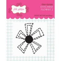 Tampon clear Stitched flower 2 - Pink paislee