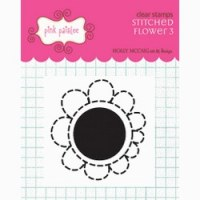 Tampon clear Stitched flower 3 - Pink paislee
