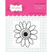 Tampon clear Stitched flower 4 - Pink Paislee