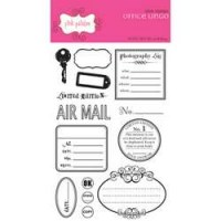 Tampons clear Office lingo - Pink Paislee