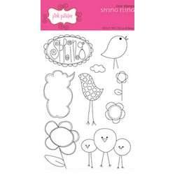 Tampons clear Spring fling - Pink Paislee