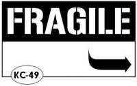 Tampon monté sur mousse FRAGILE - Kesi'art