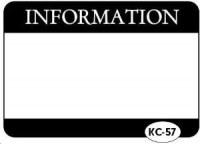 Tampon monté sur mousse INFORMATION - Kesi'art