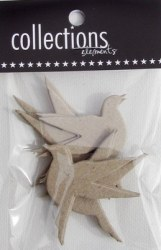 Chipboards MINI FLYING BIRDS - Collections elements