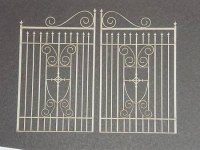 Chipboard ORNATE GATES LARGE 2 pièces - Dusty attic