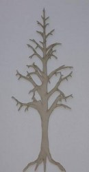 Chipboard MINI BARE TREE 1 - Dusty attic