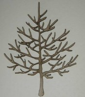 Chipboard MINI BARE TREE 3 - Dusty attic