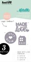 Forme de découpe (die) - Métaliks MADE WITH LOVE - Kesi'art