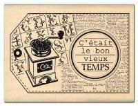 Tampon bois BON VIEUX TEMPS - Florilèges