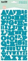 Stickers alphabet PRESS turquoise - Kesi'art