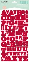 Stickers alphabet PRESS rouge - Kesi'art