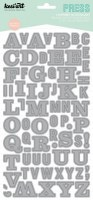 Stickers alphabet PRESS gris - Kesi'art