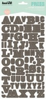 Stickers alphabet PRESS taupe - Kesi'art
