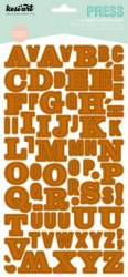 Stickers alphabet PRESS camel - Kesi'art