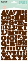 Stickers alphabet PRESS marron - Kesi'art