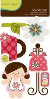{Paper doll}Chipboards sparkle chip - Crate paper