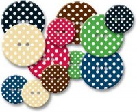 Chipboards boutons POLKA DOT - J.Bowlin