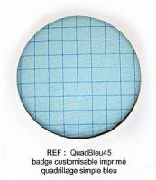 Badge QUAD BLEU 45mm - ScrapButtons