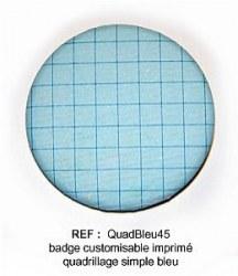 Badge QUAD BLEU 45mm - ScrapButtons