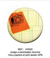 Badge APN 45 mm - ScrapButtons