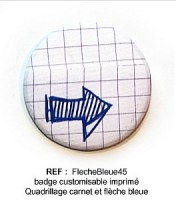 Badge FLECHE BLEUE 45 mm - Scrapbuttons