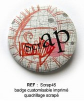 Badge SCRAP 45 mm - ScrapButtons