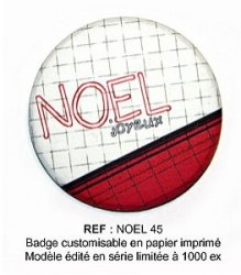 Badge NOEL 45 mm - ScrapButtons