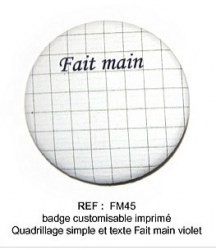 Badge FAIT MAIN 45 mm - ScrapButtons