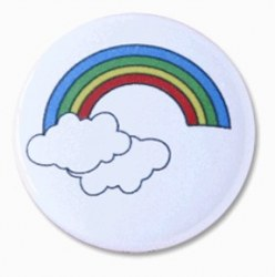 Badge ARC EN CIEL NUAGEUX - Zibuline