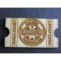 Embell. bois TICKET AMOUR - Scrap Désirs