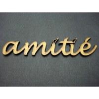 Embell. bois AMITIE - Scrap Désirs