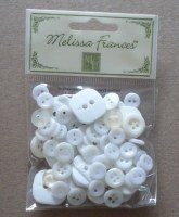 Boutons ANTIQUE WHITE - Melissa Frances