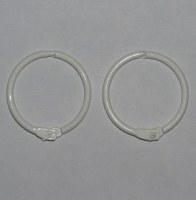 2 anneaux métal crème - 7 Gypsies