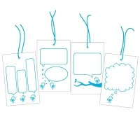 Bubble bird tags BLEU - Elle's studio