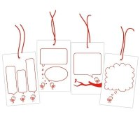 Bubble bird tags ROUGE - Elle's studio