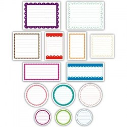 Scalloped journaling tags BRIGHT - Elle's studio