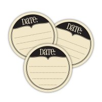 Chic date tags CREAM - Elle's Studio