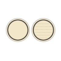 Lined journaling circle tags CREME - Elle's studio