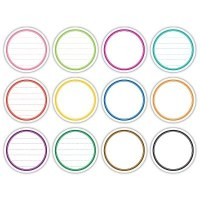 Lined journaling circle tags BRIGHT - Elle's studio