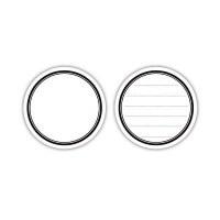 Lined journaling circle tags NOIR et BLANC - Elle's studio