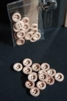 15 boutons bois POINTILLÉS - Zenatytude