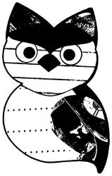 Tampon bois PROMISE OWL - Art gone wild