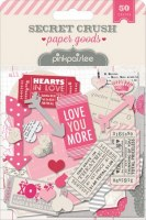 Embell. papier SECRET CRUSH - Pink paislee