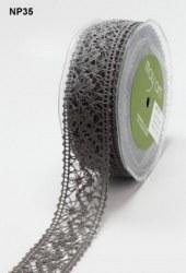 Ruban crochet large PEWTER - May arts