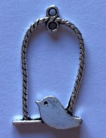 Charm BIRDCAGE ARGENTÉ