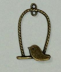 Charm BIRDCAGE bronze