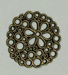 Charm ROND FLEURI bronze