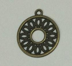 Charm ROND FILIGRANE bronze