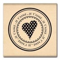 Tampon bois BULLE DE COEUR - Florilèges