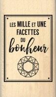 {Pur éclat}Tampon bois FACETTES DU BONHEUR - Florilèges